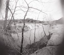Test with homemade pinhole